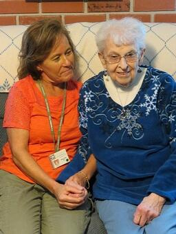 Anne Carle, RN visits Marie at her home