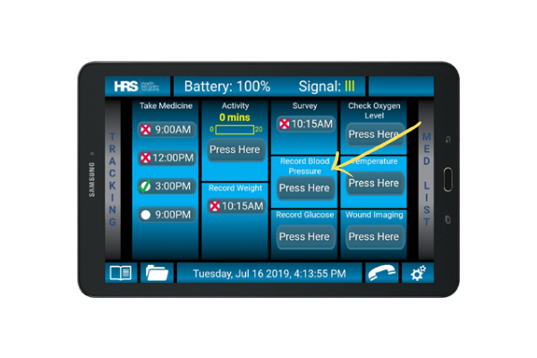 HRS tablet and blood pressure reading module