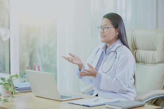 provider on telehealth virtual visit