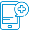 icon of remote patient monitoring tablet