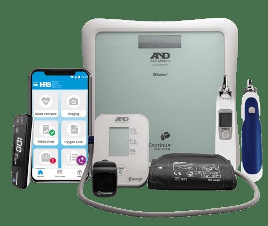 PatientConnect Mobile homepage and symptom surveys
