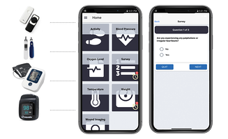 PatientConnect Mobile with devices