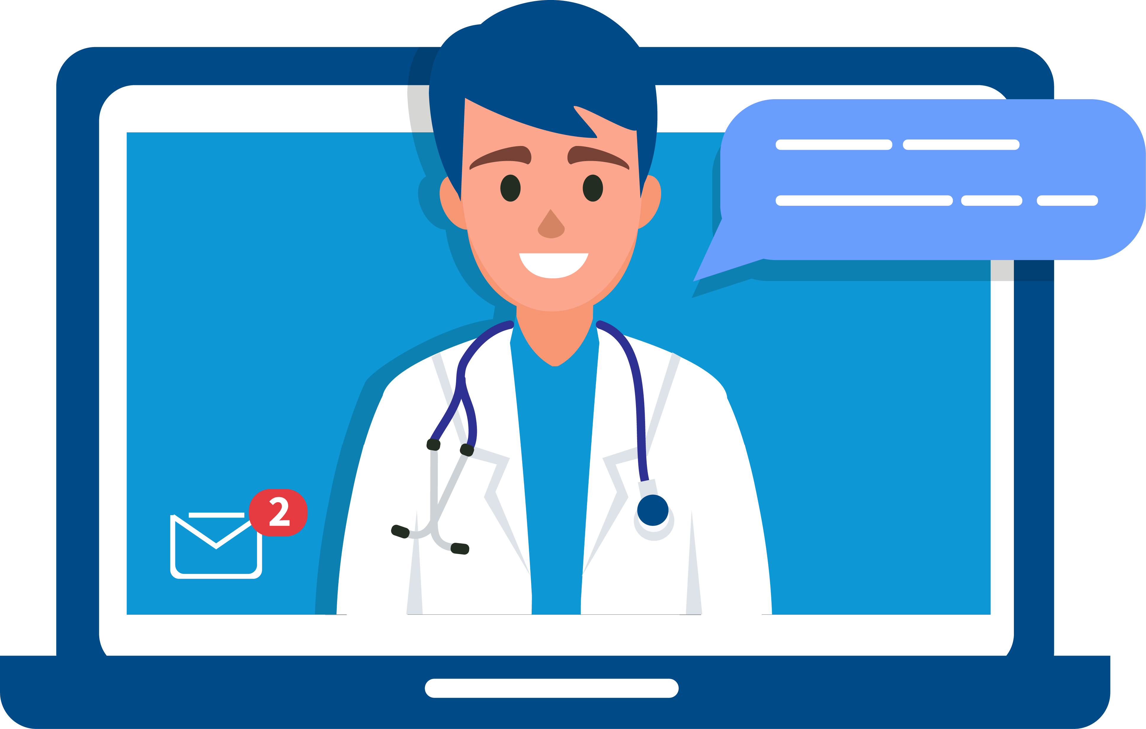 Animation of doctor virtual visit