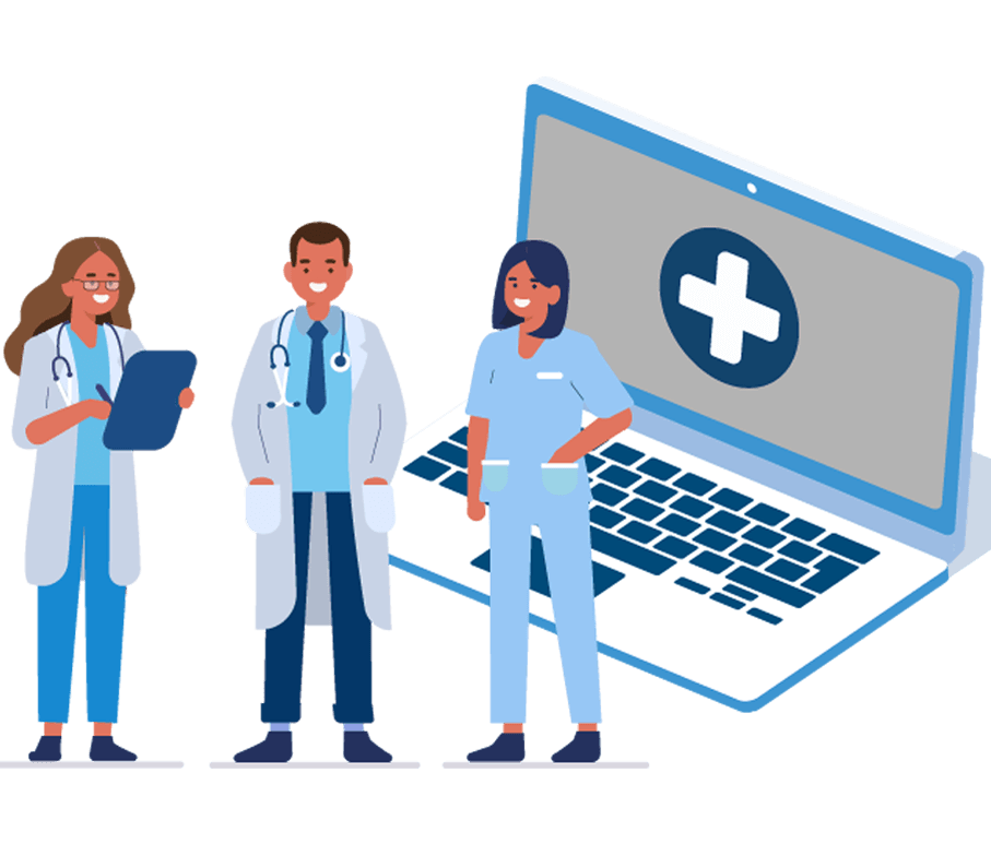 Patient using PatientConnect complete tools