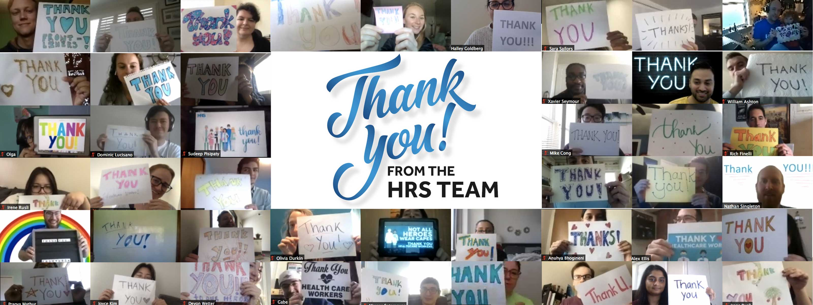 HRS Team Thanks Healthcare Providers